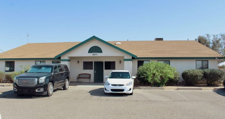 The front side of the Casa Grande Clinic building located at 222 E Cottonwood Ln, Casa Grande, AZ 85122.
